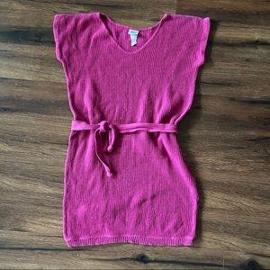 Vintage Oops California Pink Sweater Top w/ Tie M